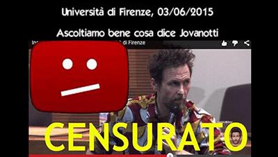 Jovanotti Censurato: Università Di Firenze (Video 03/06/2015)