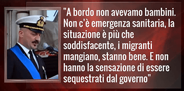 Comandante Della Diciotti: Smentisce Bufale Media Italiani (Video 29/08/2018)