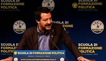 Matteo Salvini: Intervento Alla Scuola Di Formazione Politica (Video 2018)