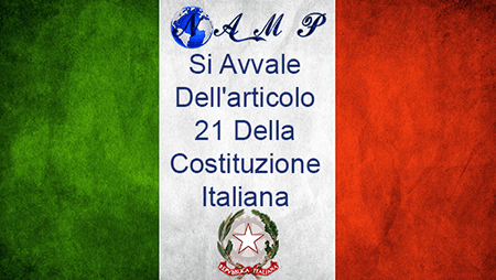 NAMP Si Avvale Dell'Articoli 21 Della Costituzione Italiana
